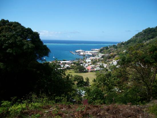 Levuka Homestay: From the top looking down on Levuka township