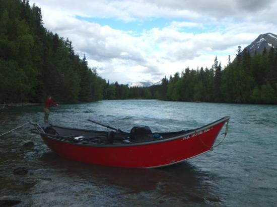 Gwin's Lodge and Restaurant: Drift boat on the Kenai