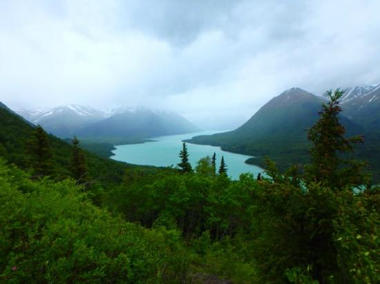 Gwin's Lodge and Restaurant, Historic Roadhouse and cabin rentals: Slaughter Ridge trail above Kenai Lake