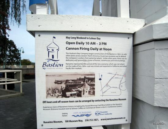 Nanaimo, Kanada: The Bastion info.