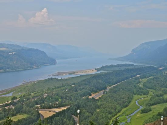 Hood River, Oregón: View from Vsta house Down the Gorge
