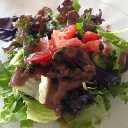 Salad with homemade vinaigrette