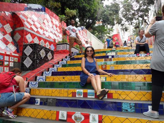 Samba Palace Hostel: Escadaria Selaron
