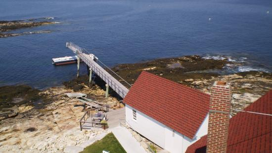Остров Саутпорт, Мэн: View from the top of the lighthouse