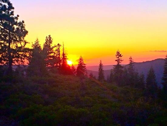 Emigrant Gap, CA: Sunset, from the Sunset Lookout at Snowflower