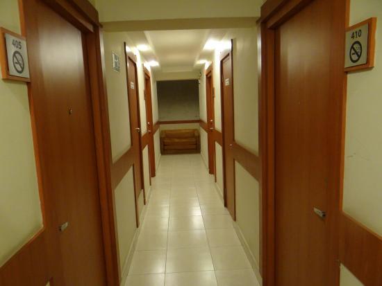 Centroamericano Hotel: The corridor.
