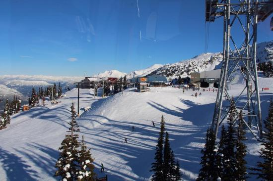 Whistler Blackcomb: Our lunchtime view from the Roundhouse
