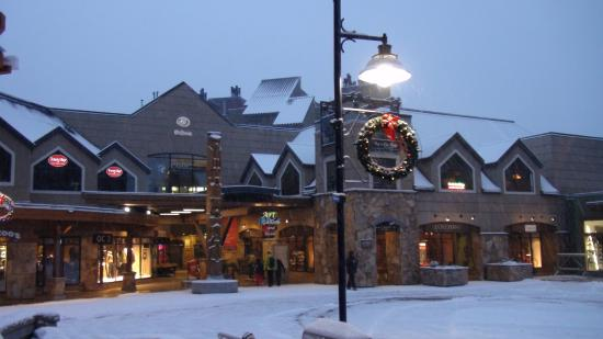 Whistler Blackcomb: Village after some snow