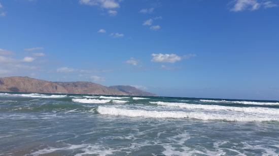 Kavros Beach: widok od strony płaży
