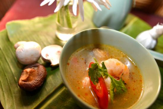 Hot and sour shrimps soup an all time favourite at the BirdCage