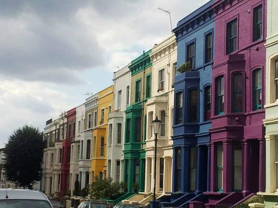Coloured houses picture of see notting hill london for House notting hill