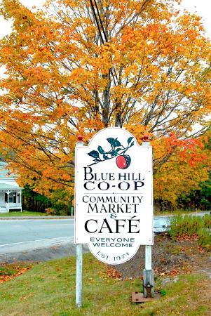 Blue Hill Co-op Community Market: Roadside sign