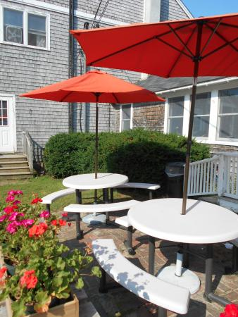 Blue Hill Co-op Community Market: Outdoor eating area