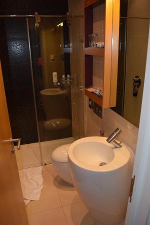 ibis Styles London Gloucester Road: Baño de la habitación, moderno y limpio