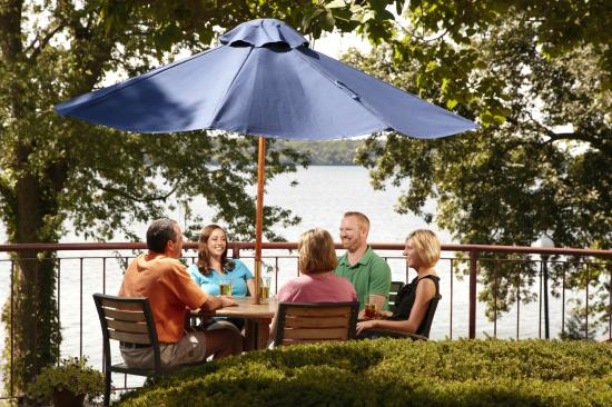 Green Lake, WI: BoatHouse Patio tables