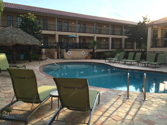 Pool Side Seats In Courtyard Area Picture Of Holiday Inn Hotel Suites Tampa North Busch