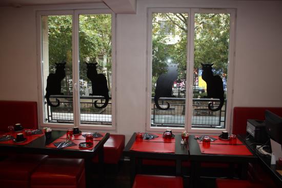 restaurant picture of hotel le chat noir paris tripadvisor. Black Bedroom Furniture Sets. Home Design Ideas