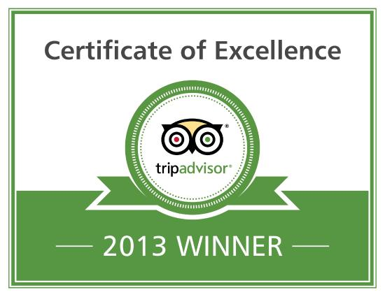 The Swiss Cottage Shanklin: Excellence Badge 2013