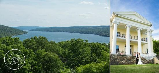 Bluff Point, นิวยอร์ก: A breathtaking view of Keuka Lake from Esperanza Mansion
