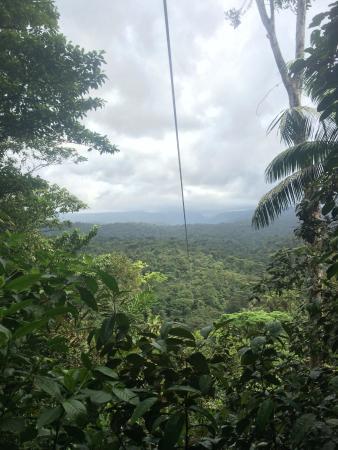 Braulio Carrillo National Park, Kosta Rika: last zip line