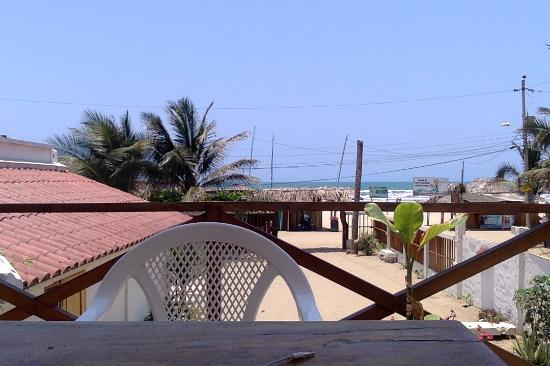 Canoamar Hostal : I had to do some remote work on the terrace from my laptop, and this is view I got, all day long