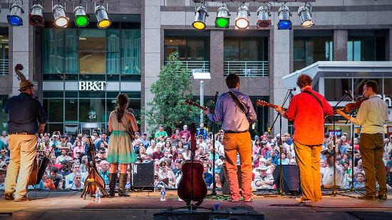 North Carolina: The Wide Open Bluegrass festival in Raleigh is one of several large music festivals this fall in