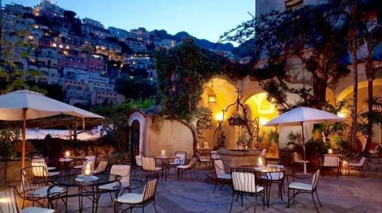 Hotel Palazzo Murat Courtyard By Night