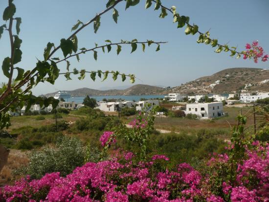 Ostria Village: vue de la terrasse