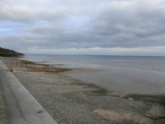 View of Amroth beach from the Pirate Restaurant