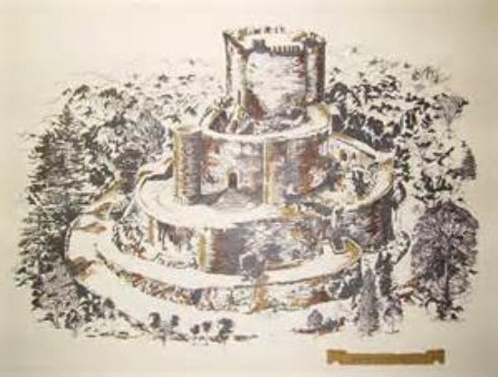 Villasobroso, Spain: Litografía del Castillo de Sobroso en VILASOBROSO