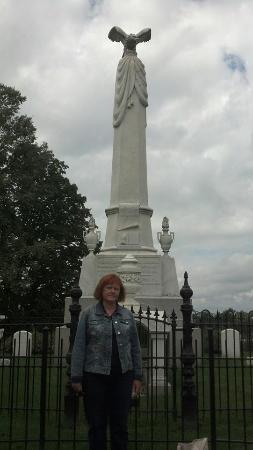 Andrew Johnson National Historic Site: Andrew Johnson Obelisk at the cemetery.