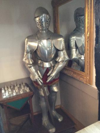 The George Hotel: Knight in shinning armour to greet you in reception.