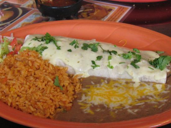 Burrito Vaquero Mexican Restaurant: Tex-Mex burrito