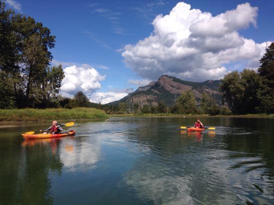 Lumby, แคนาดา: Canoe and Kayak trip ! Had a lot of fun!