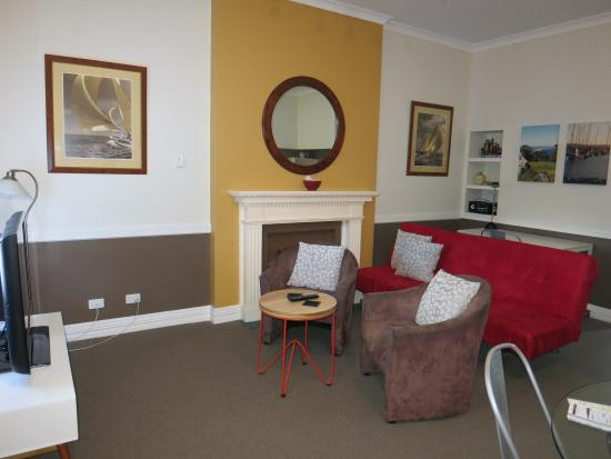 Foreshore Apartments: view from the main door