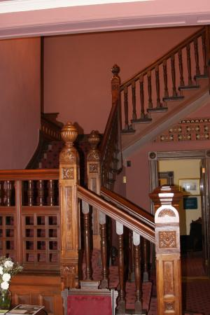 Officers' Row : Stairway inside Marshall House.  (Available for weddings and events.)