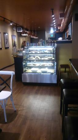The Small Batch Cafe & Eatery: Street View, Inside entrance, Pastrami sandwich & Bean Salad