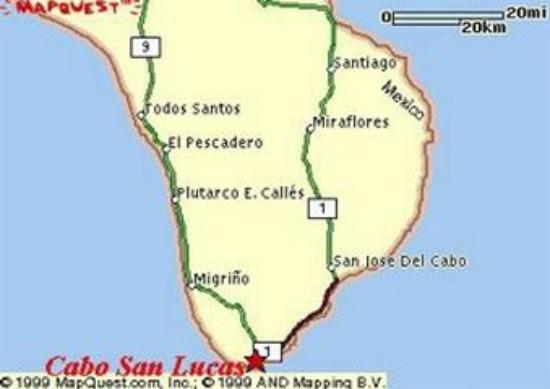 Villa del Palmar Beach Resort & Spa Los Cabos: Map