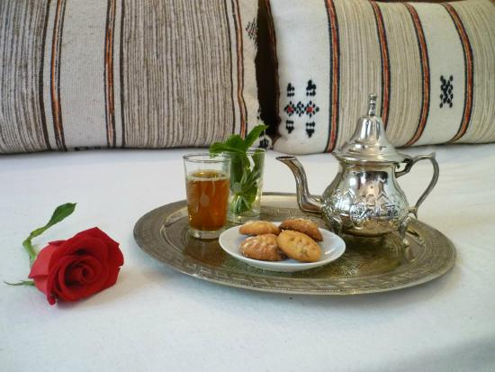 Riad Dar Zaman : Afternoon tea with homemade cookies