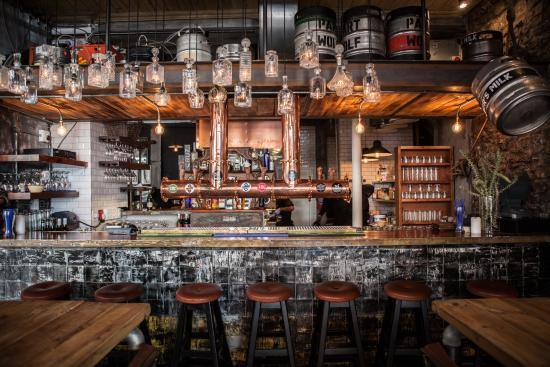 Steampunk Craft Beer Taps At Tigers Milk On Long