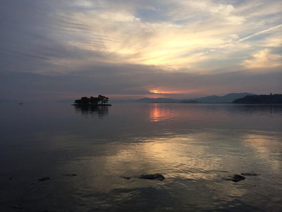 Suitenkaku : 綺麗な宍道湖の夕景