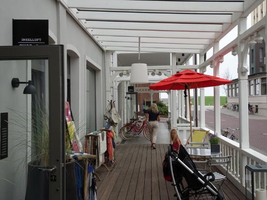 cafe und eing nge bild von inselloft norderney norderney tripadvisor. Black Bedroom Furniture Sets. Home Design Ideas