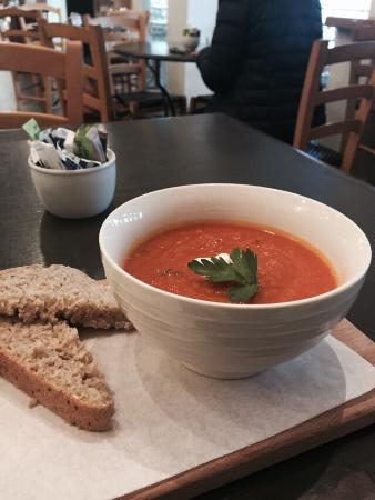 Sprigs The Food Shop: Soup of the day - pumpkin and bacon