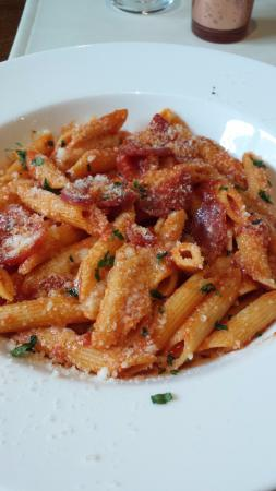 Staket: My spicy pasta dish - excellent and a huge serving!!
