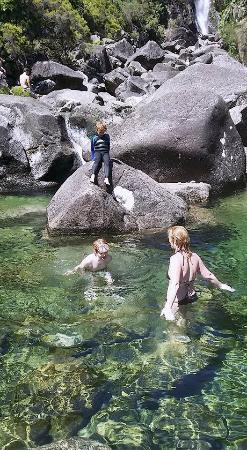 Swimming in crystal clear waterfall pools picture of ermida geres camping geres tripadvisor - Crystal pools waterfall ...
