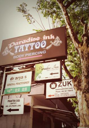 ZUK Boutique Hotel: Zuk hotel's Sign on Legian Street