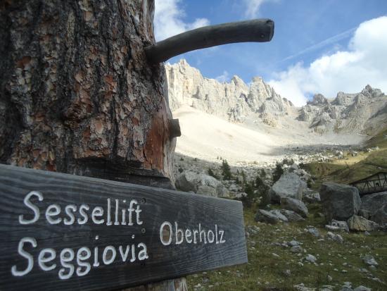Obereggen, Italie : Vecchia indicazione per la Seggiovia