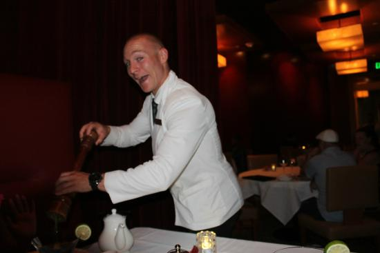Ciera Steak & Chophouse: Our crazy waiter...what a blast.