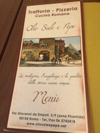 Olio sale e pepe, Rome - Testaccio - Restaurant Reviews, Phone ...