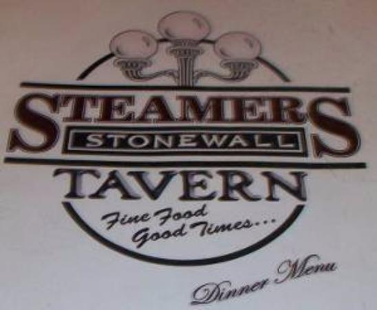 Steamers Stonewall Tavern: Steamers Menu